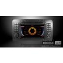 OEM Multimedia Double Din / Двоен дин DVD GPS TV за Mercedes ML W164, GL X164