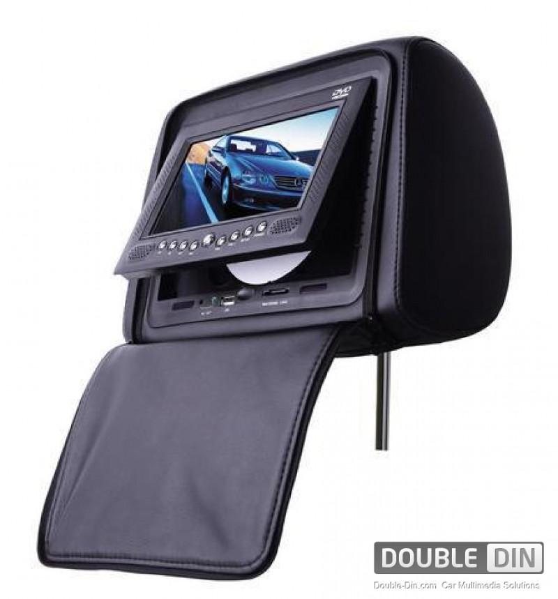 Подглавник с LCD-TFT Монитор, DVD, USB, SD, Игри и похлупак с цип