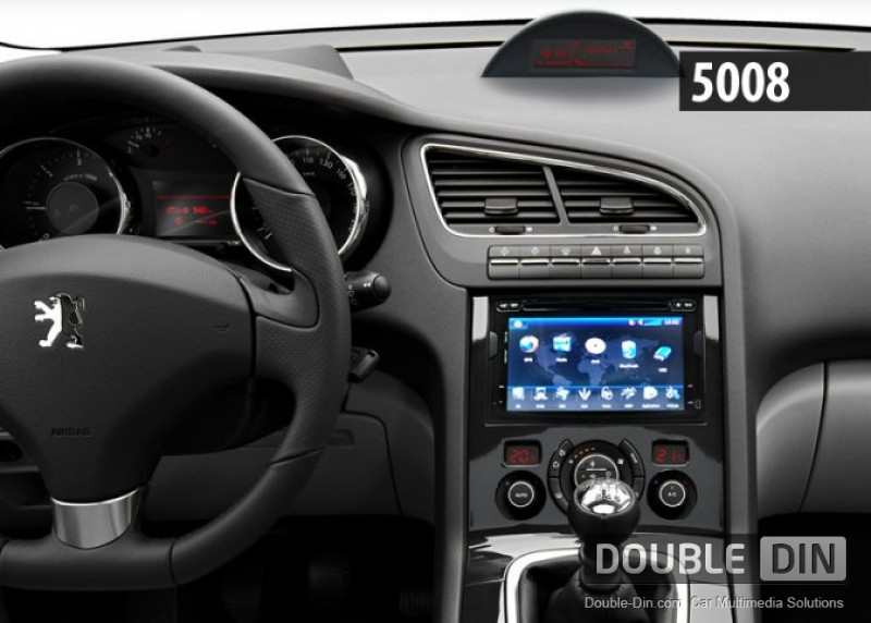 double din dvd gps tv peugeot 3008. Black Bedroom Furniture Sets. Home Design Ideas