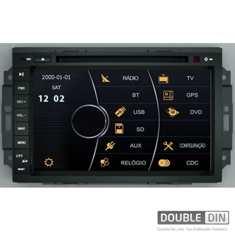 OEM Multimedia Double Din / Двоен дин DVD GPS TV за Jeep Grand Cherokee, Chrysler 300C