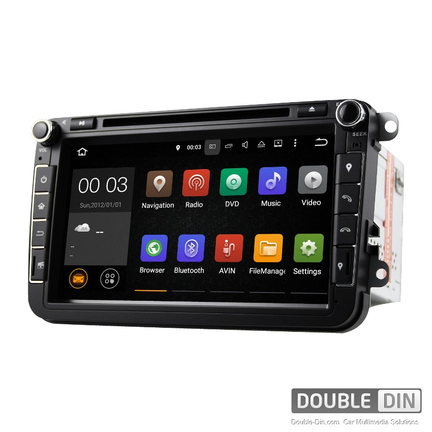 Навигация / Мултимедия с Android 10 за VW Golf, Passat, Tiguan, Touran, EOS, Caddy, Jetta и други DD-8015