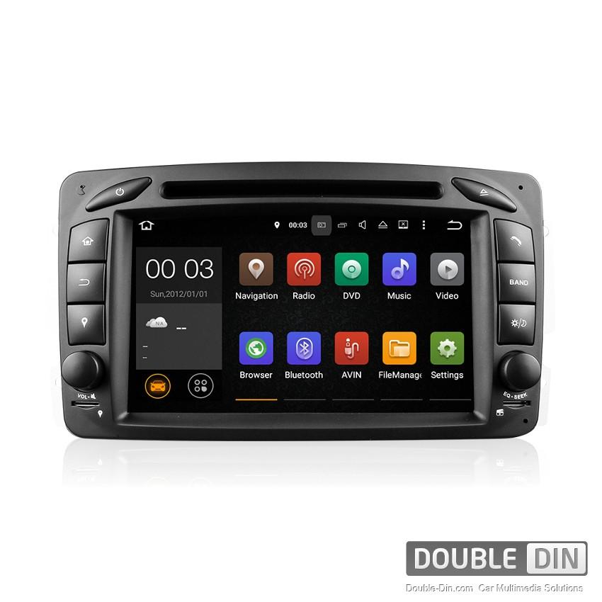 Навигация / Мултимедия с Android 9.0 или 9.1 за Mercedes C-class W203, CLK C209/W209 и други - DD-7063