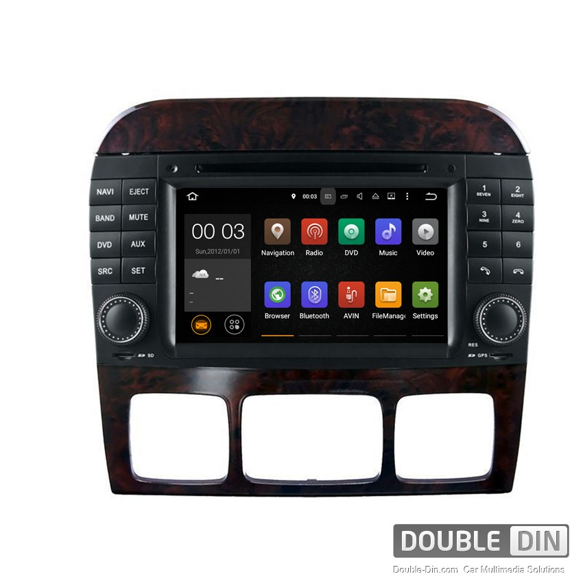 Навигация / Мултимедия с Android 8.0 или 7.1 за Mercedes S-class W220, CL W215 - DD-7082