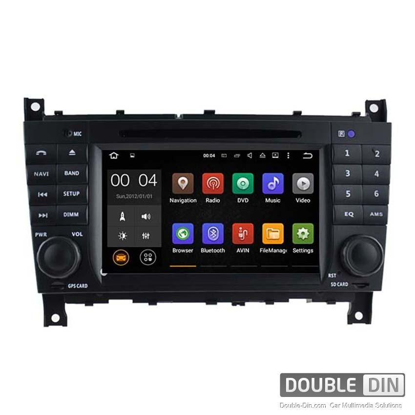 Навигация / Мултимедия с Android 8.0 или 7.1 за Mercedes C-class W203/CLK W209 - DD-7069