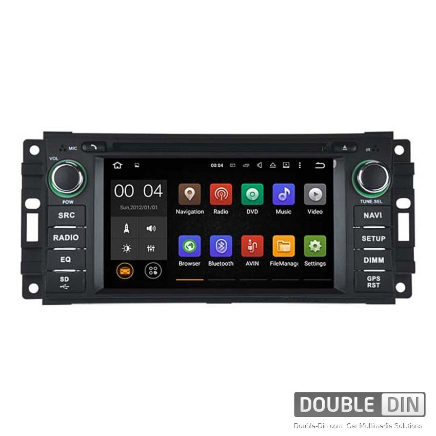 Навигация / Мултимедия с Android 8.0 или 7.1 за Chrysler Sebring, Jeep - Grand Cherokee, Commander, Wrangler  - DD-5620
