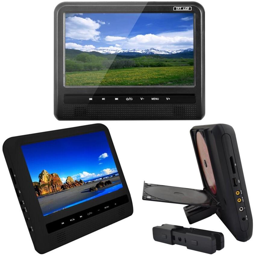 LCD-TFT Монитор за подглавник с DVD, USB, SD, Игри, IR, FM - 9 инча