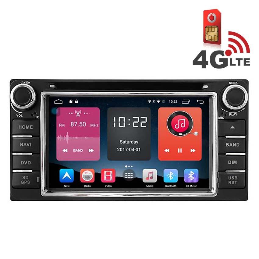 Навигация / Мултимедия с Android 6.0 и 4G/LTE за Toyota Corolla Verso (2004-2009) DD-K7158