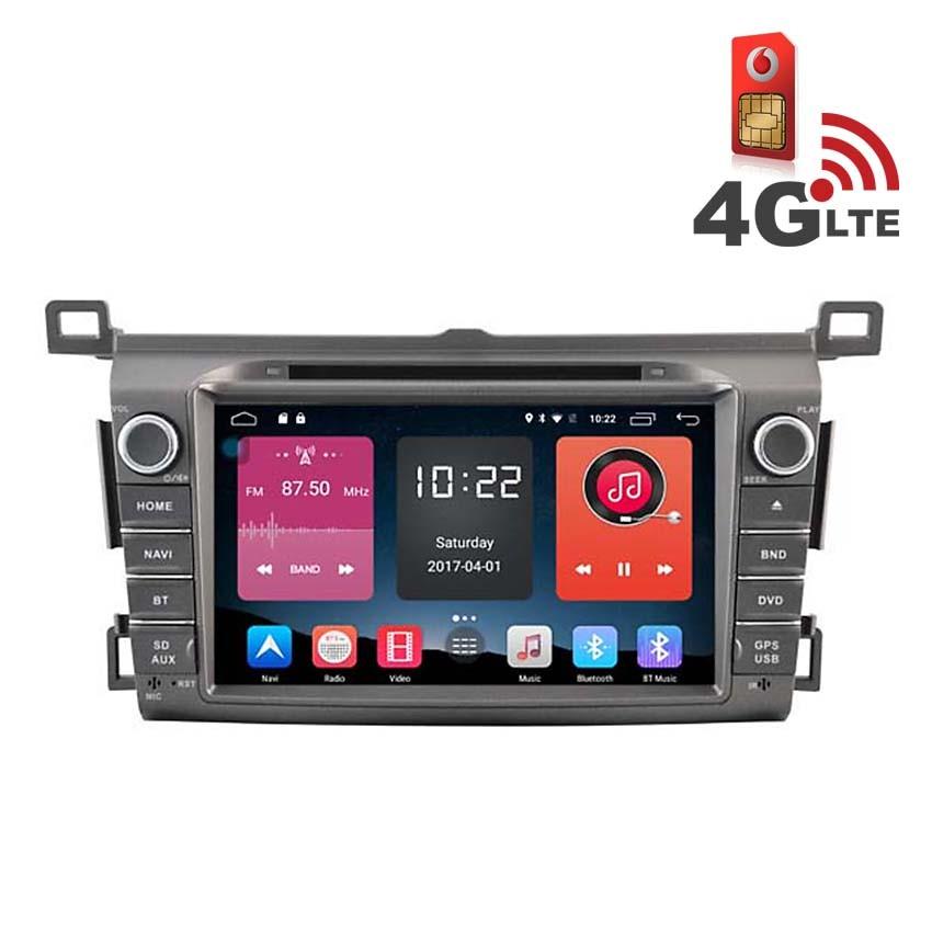 Навигация / Мултимедия с Android 6.0 и 4G/LTE за Toyota RAV4 2014 DD-K7120