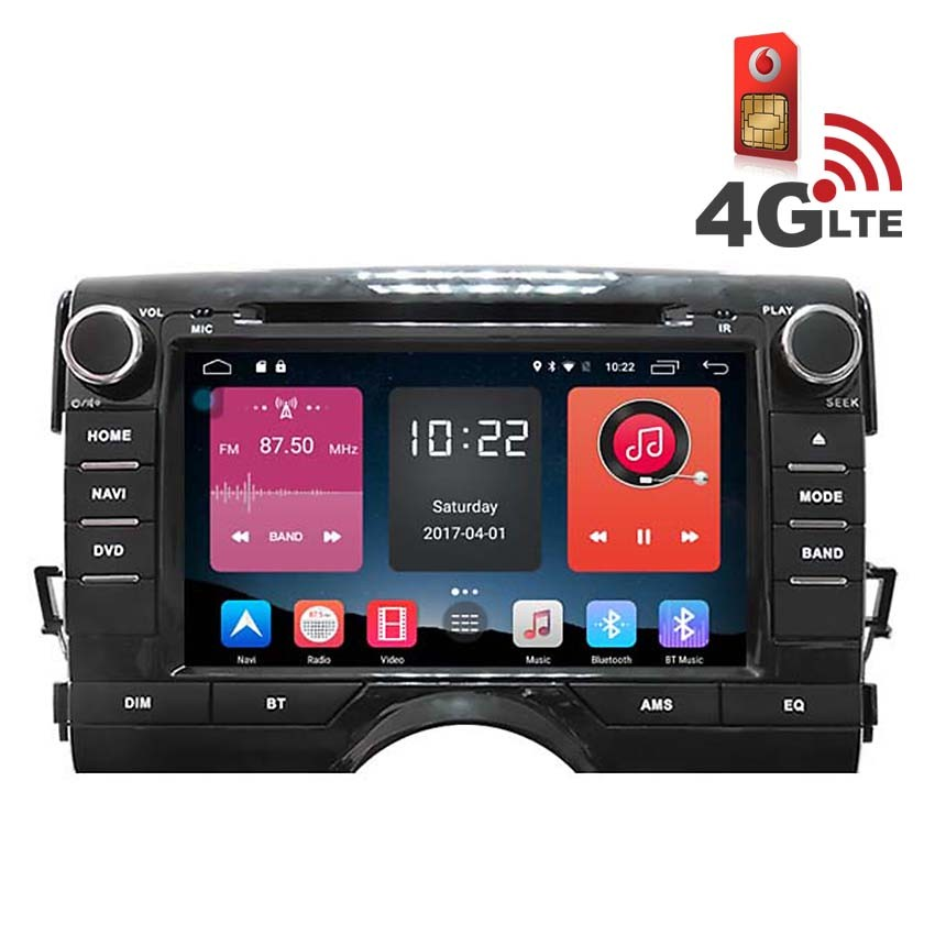 Навигация / Мултимедия с Android 6.0 и 4G/LTE за Toyota Reiz DD-K7114