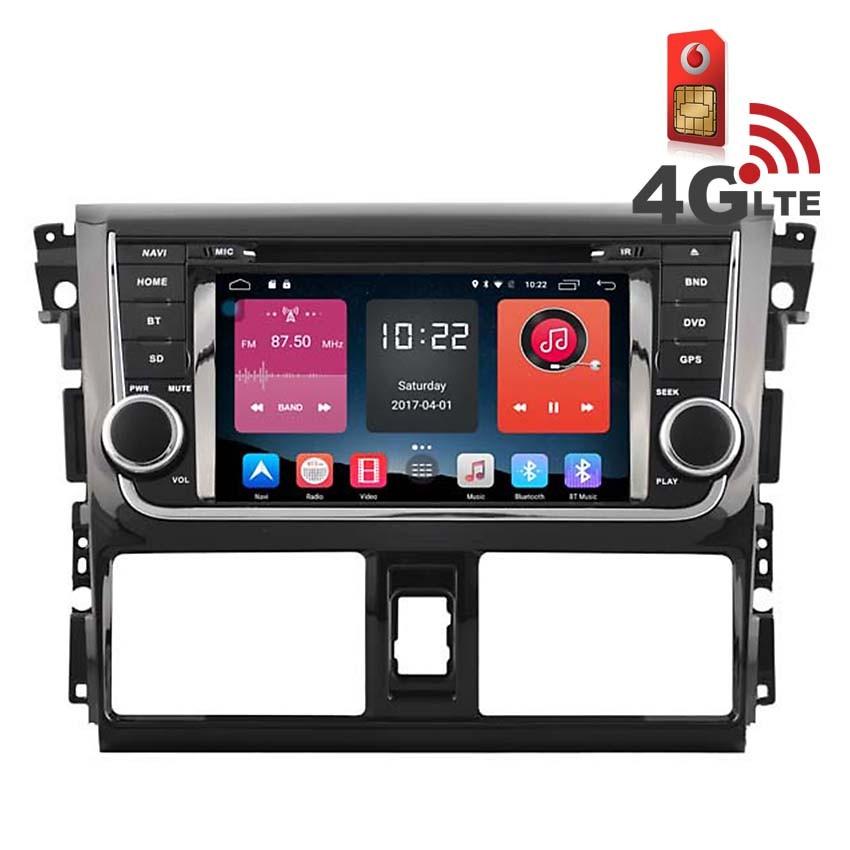 Навигация / Мултимедия с Android 6.0 и 4G/LTE за Toyota Yaris, Vios DD-K7113