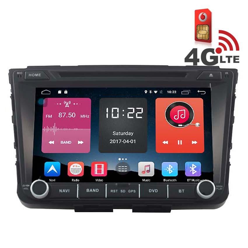 Навигация / Мултимедия с Android 6.0 и 4G/LTE за Hyundai IX25 DD-K7257