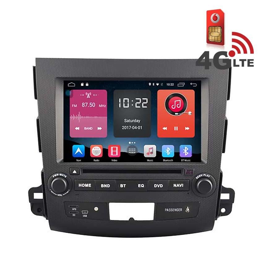 Навигация / Мултимедия с Android 6.0 или 10 и 4G/LTE за Peugeot 4007 DD-K7848