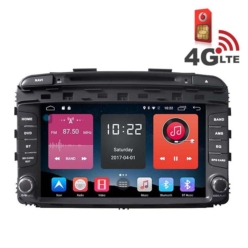 Навигация / Мултимедия с Android 6.0 и 4G/LTE за Kia Sorento 2015 DD-K7590