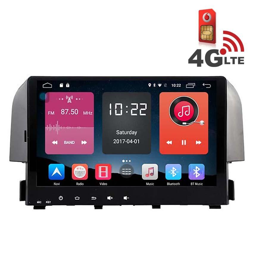 Навигация / Мултимедия с Android 6.0 и 4G/LTE за Honda Civic 2016 DD-K7322