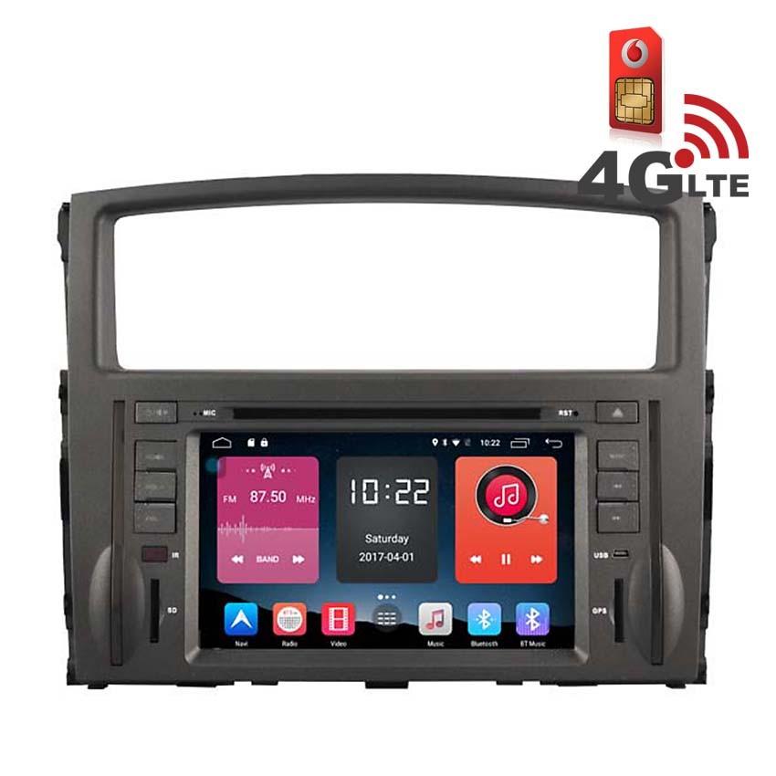 Навигация / Мултимедия с Android 6.0 и 4G/LTE за Mitsubishi Pajero DD-K7846