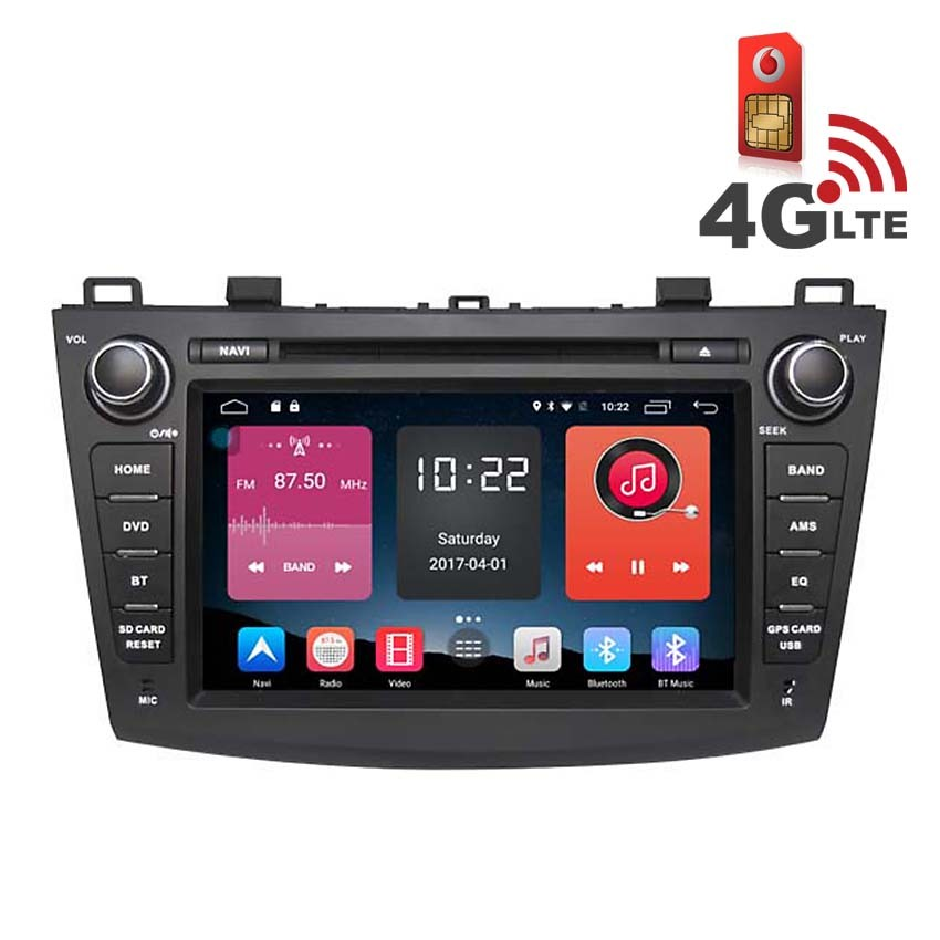Навигация / Мултимедия с Android 6.0 и 4G/LTE за Mazda 3 DD-K7606