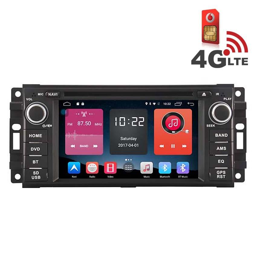 Навигация / Мултимедия с Android 6.0 и 4G/LTE заChrysler Sebring, Jeep Wrangler и други DD-K7839