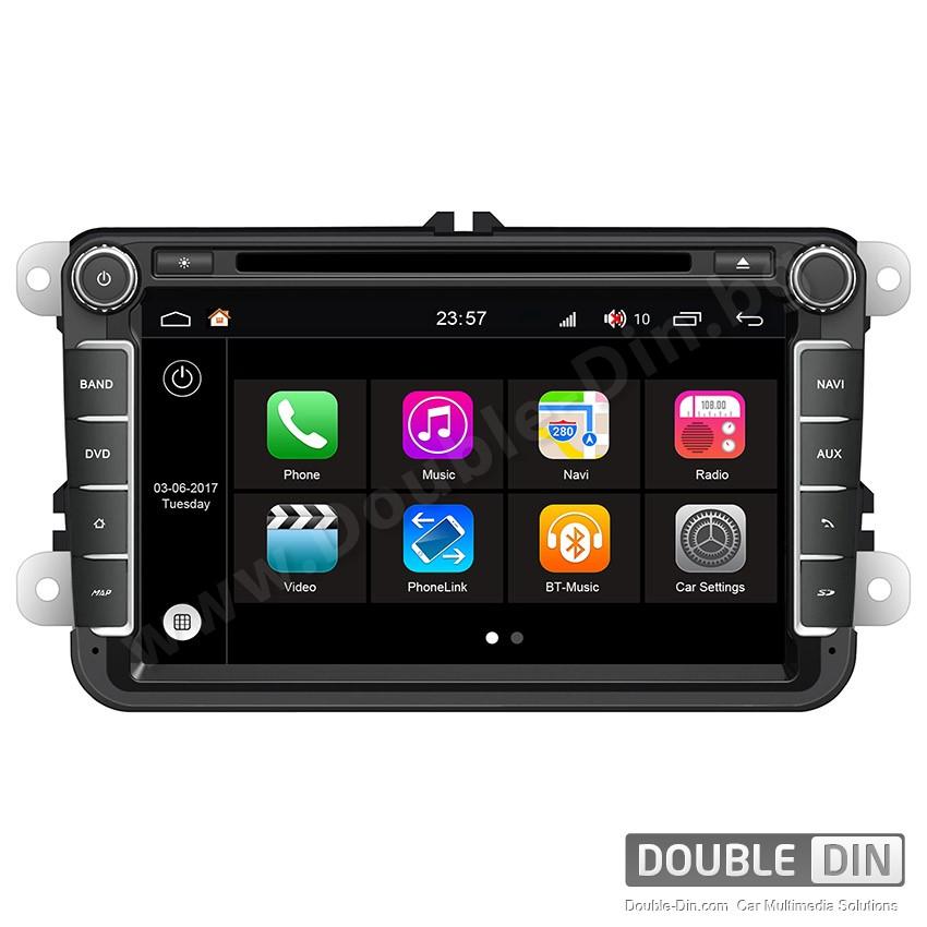 Навигация / Мултимедия с Android 7.1 NOUGAT за VW Golf, Passat, Tiguan, Touran, EOS, Caddy, Jetta и други - DD-Q370