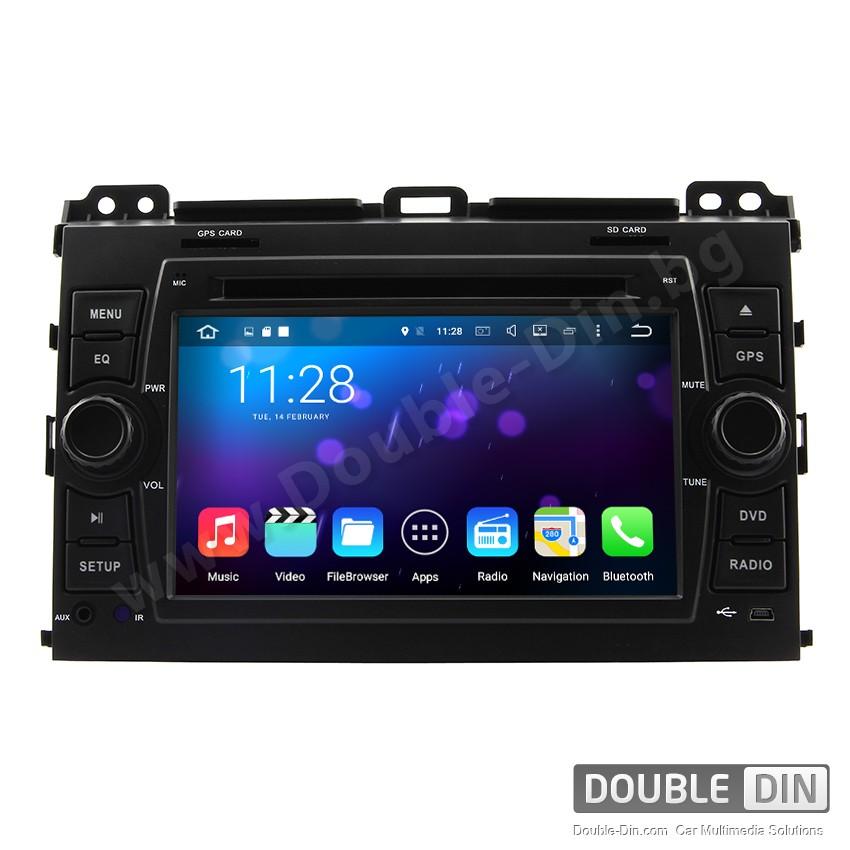 Навигация / Мултимедия с Android 6.0 за Toyota Land Cruiser 120  - DD-7688