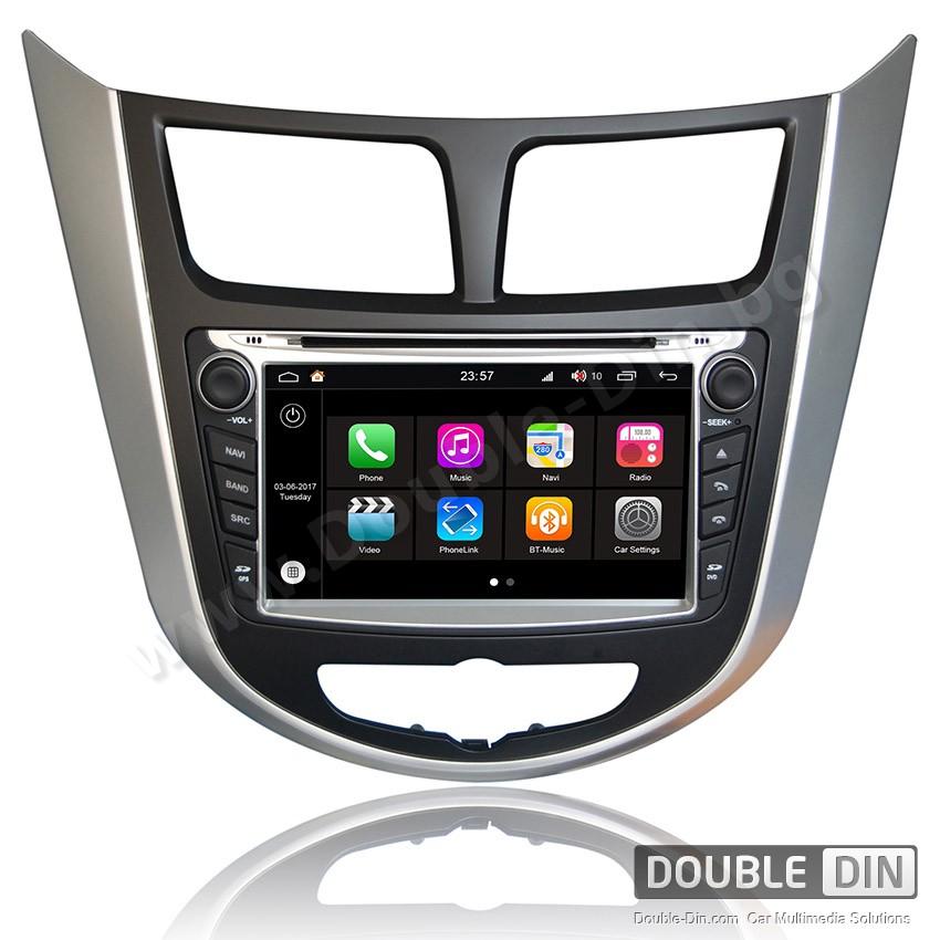 Навигация / Мултимедия с Android 7.1 NOUGAT за Hyundai Verna - DD-Q067