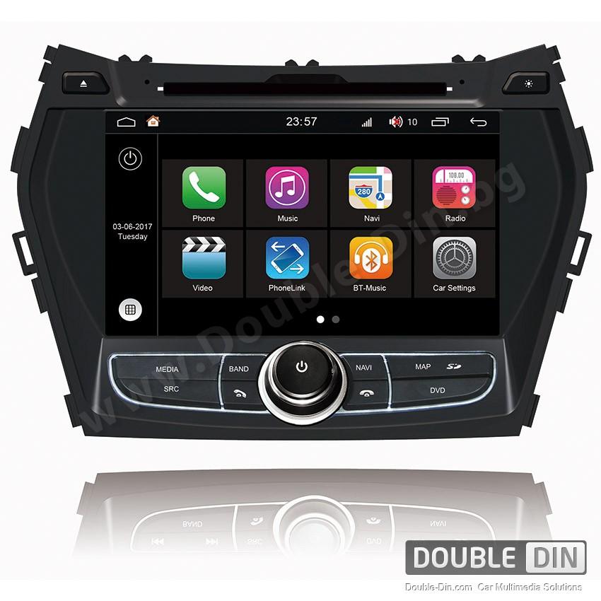 Навигация / Мултимедия с Android 7.1 NOUGAT за Hyundai IX45, Santa Fe  - DD-Q209