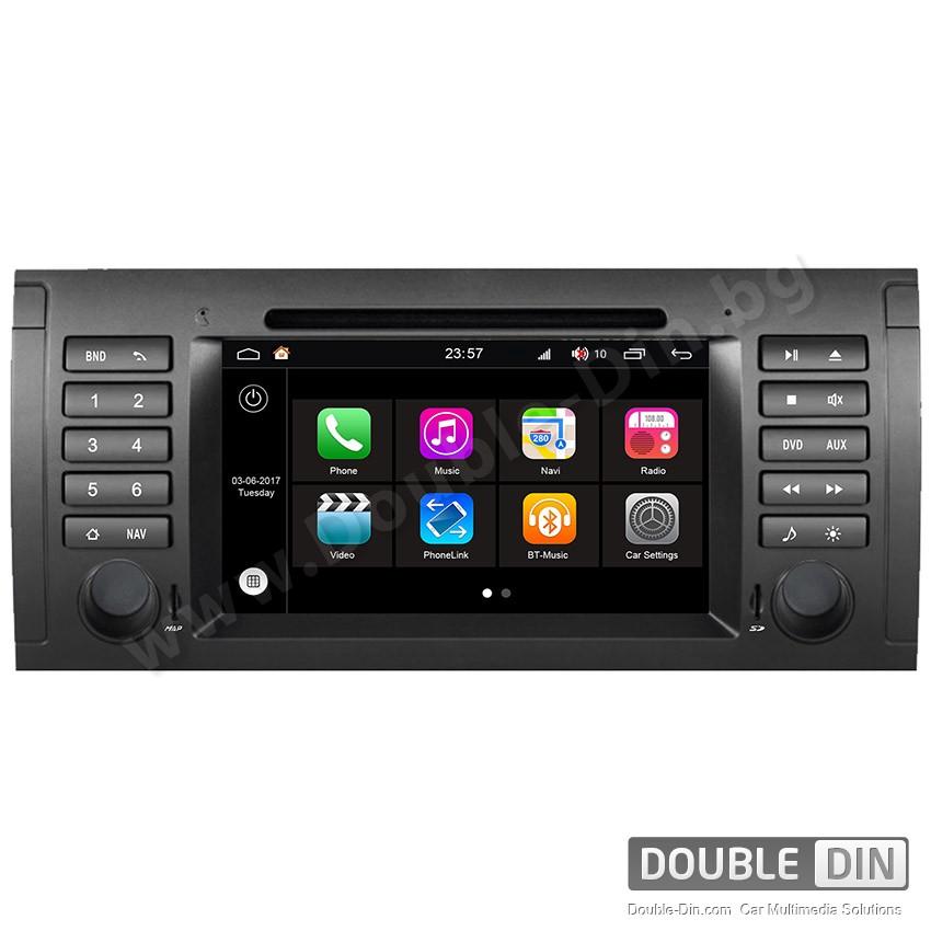 Навигация / Мултимедия с Android 7.1 NOUGAT за BMW E38, E39, X5 E53  - DD-Q395