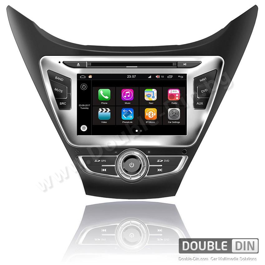 Навигация / Мултимедия с Android 7.1 NOUGAT за Hyundai Elantra 2012 - DD-Q092-2