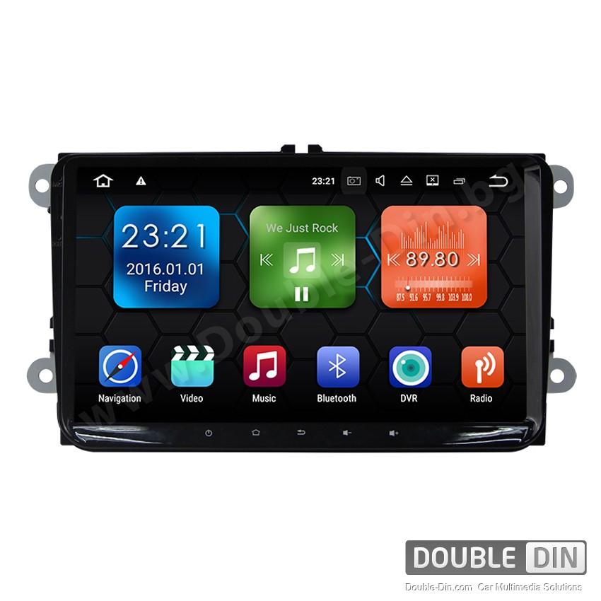 Навигация / Мултимедия с Android 9.0 Pie за VW Golf, Passat, Tiguan, Touran, EOS, Caddy, Jetta и други DD-9018