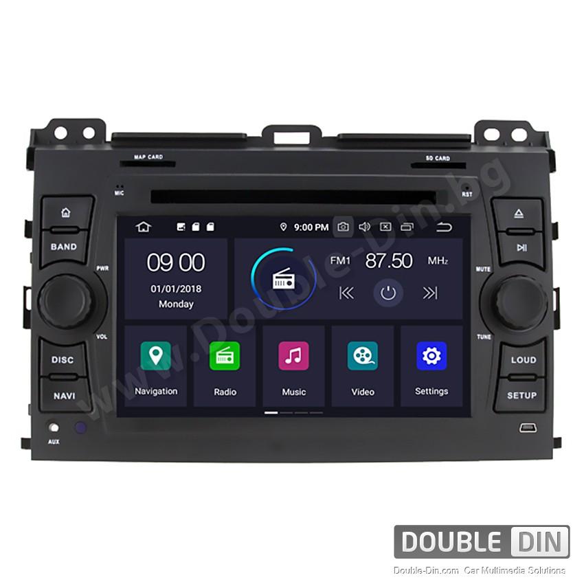 Навигация / Мултимедия с Android 9.0 Pie за Toyota Land Cruiser 120 Prado - DD-7640