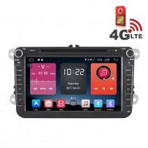 Навигация / Мултимедия с Android 6.0 или 10 и 4G/LTE за VW Golf, Passat, Tiguan, Touran, EOS, Caddy, Jetta и други DD-K7241