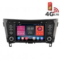 Навигация / Мултимедия с Android 6.0 или 10 и 4G/LTE за Nissan Qashqai DD-K7908