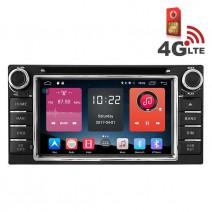 Навигация / Мултимедия с Android 6.0 или 10 и 4G/LTE за Toyota Corolla, Hilux, RAV4 и други DD-K7158