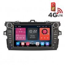 Навигация / Мултимедия с Android 6.0 или 10 и 4G/LTE за Toyota Corolla (2007-2012) DD-K7124