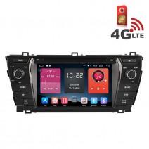 Навигация / Мултимедия с Android 6.0 или 10 и 4G/LTE за Toyota Corolla 2014 DD-K7156
