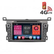 Навигация / Мултимедия с Android 6.0 или 10 и 4G/LTE за Toyota RAV4 2014 DD-K7120