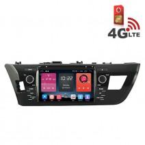 Навигация / Мултимедия с Android 6.0 или 10 и 4G/LTE за Toyota Corolla 2014 DD-K7150
