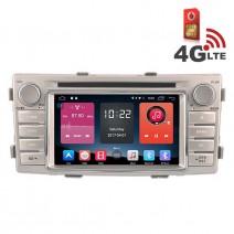 Навигация / Мултимедия с Android 6.0 или 10 и 4G/LTE за Toyota Hilux (2012- 2015) DD-K7138