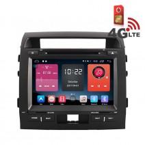 Навигация / Мултимедия с Android 6.0 или 10 и 4G/LTE за Toyota Landcruiser LC200 DD-K7133