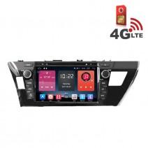Навигация / Мултимедия с Android 6.0 или 10 и 4G/LTE за Toyota Corolla 2014 DD-K7118