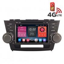 Навигация / Мултимедия с Android 6.0 или 10 и 4G/LTE за Toyota Highlander DD-K7128