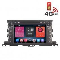 Навигация / Мултимедия с Android 6.0 или 10 и 4G/LTE за Toyota Highlander 2015 DD-K7130