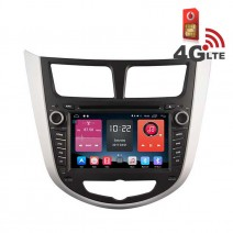 Навигация / Мултимедия с Android 6.0 или 10 и 4G/LTE за Hyundai Verna DD-K7263