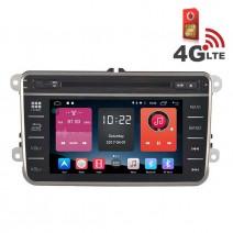 Навигация / Мултимедия с Android 6.0 или 10 и 4G/LTE за VW Golf, Passat, Tiguan, Touran, EOS, Caddy, Jetta и други DD-K7246