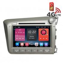 Навигация / Мултимедия с Android 6.0 или 10 и 4G/LTE за Honda Civic 2012 DD-K7315