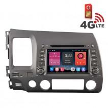 Навигация / Мултимедия с Android 6.0 или 10 и 4G/LTE за Honda Civic DD-K7313