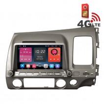 Навигация / Мултимедия с Android 6.0 или 10 и 4G/LTE за Honda Civic DD-K7307