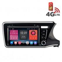 Навигация / Мултимедия с Android 6.0 или 10 и 4G/LTE за Honda City 2014 DD-K7324