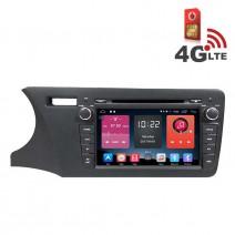 Навигация / Мултимедия с Android 6.0 или 10 и 4G/LTE за Honda City 2014 DD-K7317