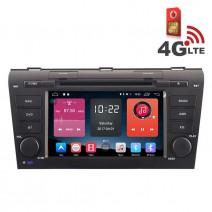 Навигация / Мултимедия с Android 6.0 или 10 и 4G/LTE за Mazda 3 DD-K7603